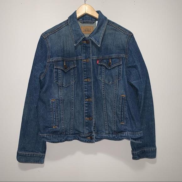 Levis Strauss Red Tab Denim Jean Trucker Jacket